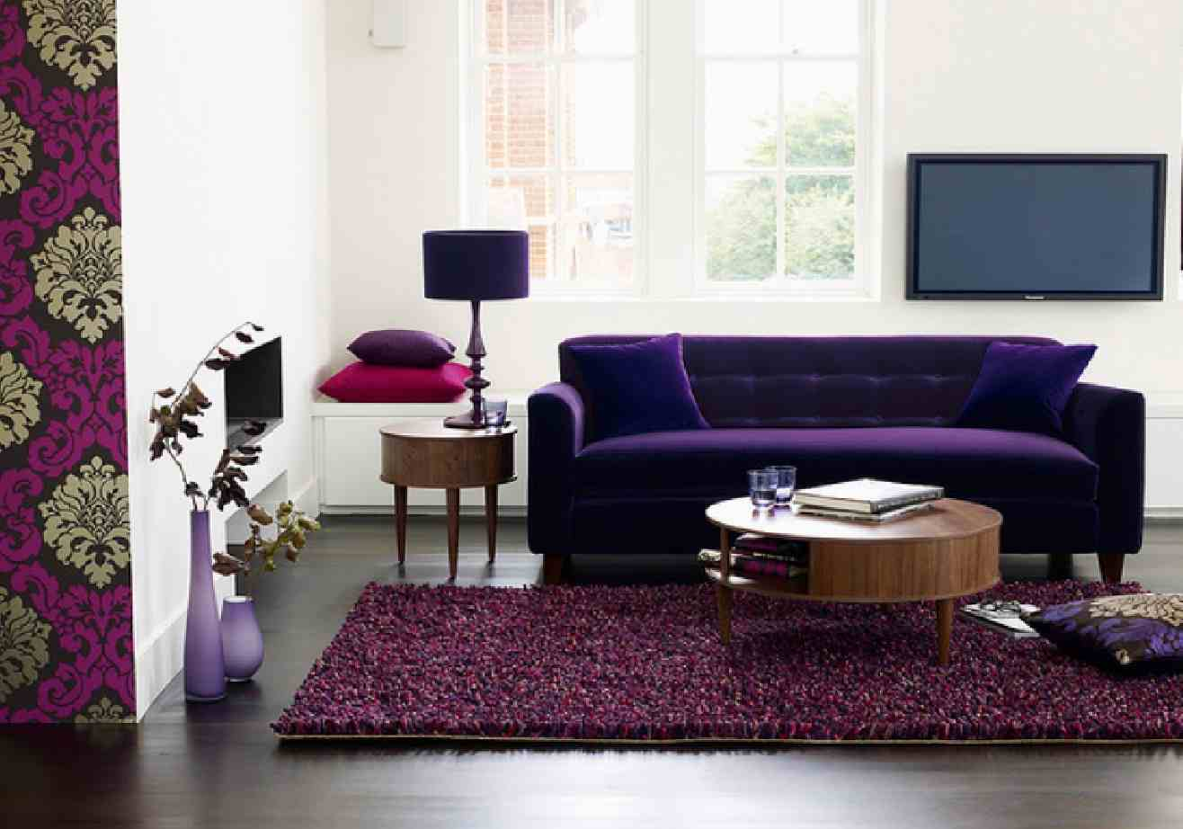 Furniture Plum Colored Sofa Purple Eggplant Couch