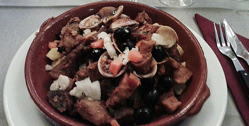 aldea restaurante tradicional grupos baixa lisboa carne porco alentejana