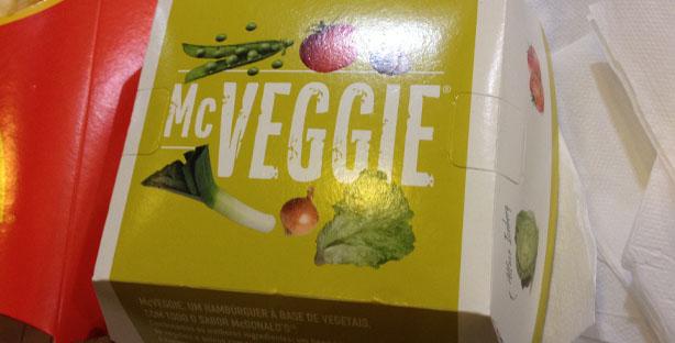 Fomos provar o novo McVEGGIE!