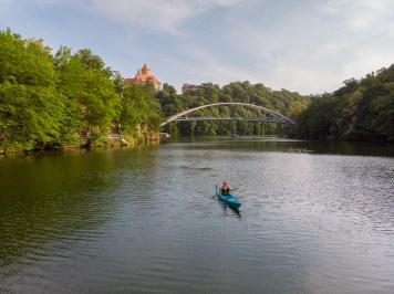Foto z dronu - vodní sporty