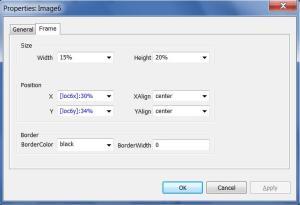 E-Prime image position settings