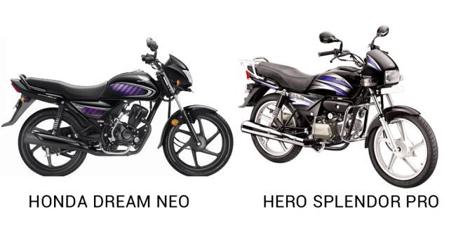 Honda Dream Neo vs Hero Splendor Pro