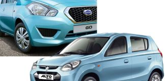 Datsun Go vs Maruti Suzuki Alto 800