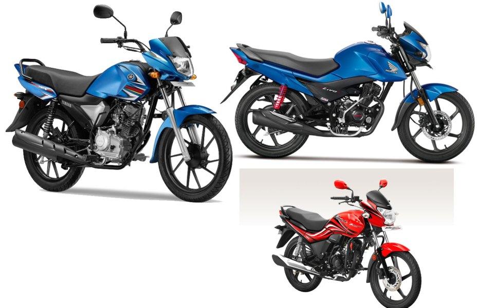 Yamaha Saluto RX vs Hero Passion XPro vs Honda Livo