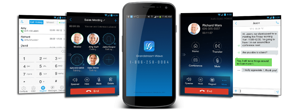 Grandstream Wave Phone Systems App Virginia Key