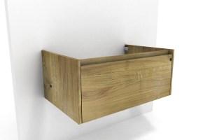 Waschbeckenunterschrank Holz massiv   Eiche