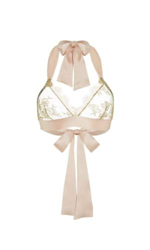 Harlow Gold French Lace Bralette Gilda&Pearl