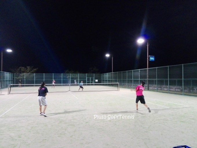 プラスワン・ソフトテニス練習会 金曜日 東近江市きぬがさ公園テニスコート