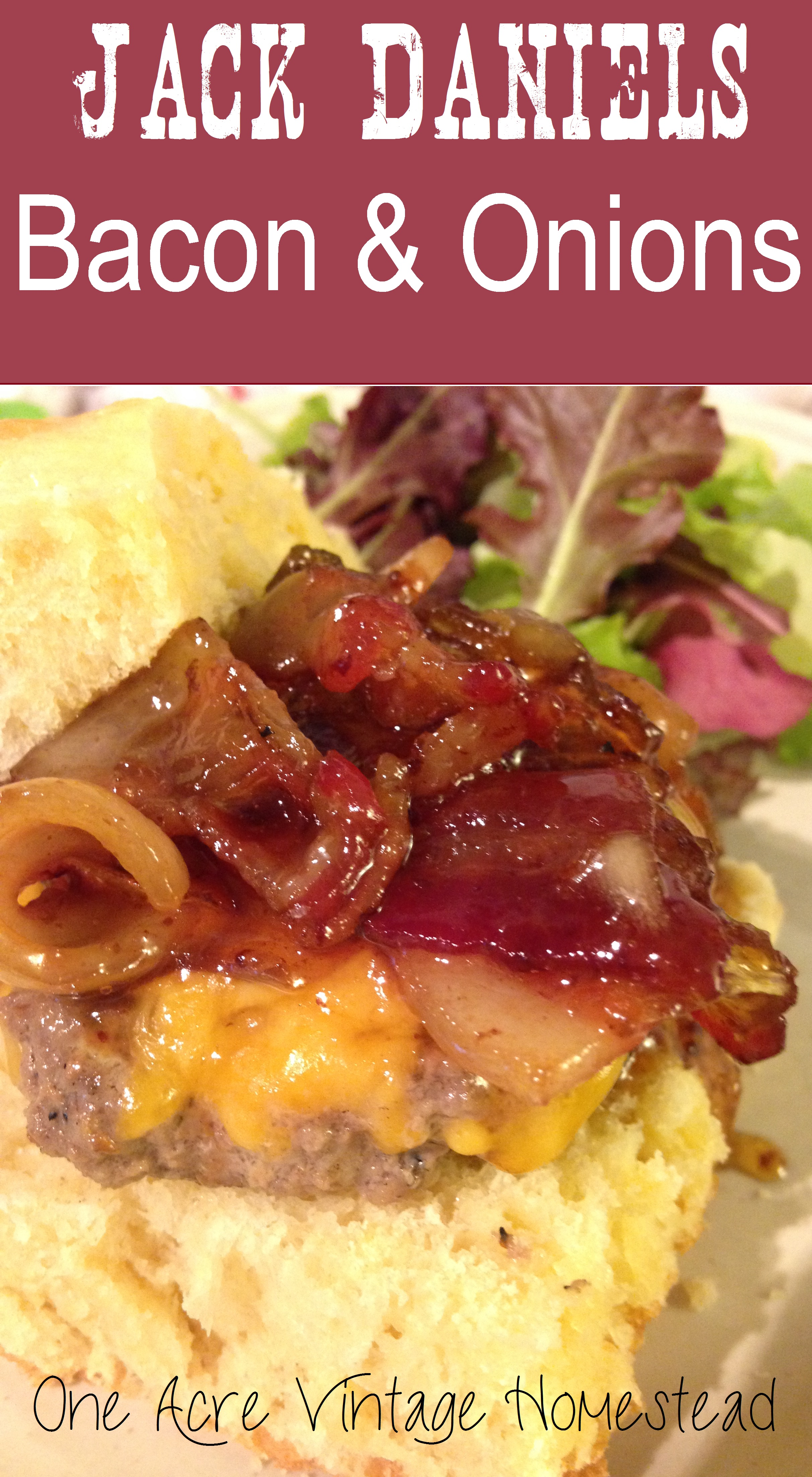 Jack daniels bacon onion burger topper very similar to the well known tgi fridays jack daniels glaze this recipe uses jack daniels whiskey but is much faster and easier to make forumfinder Images