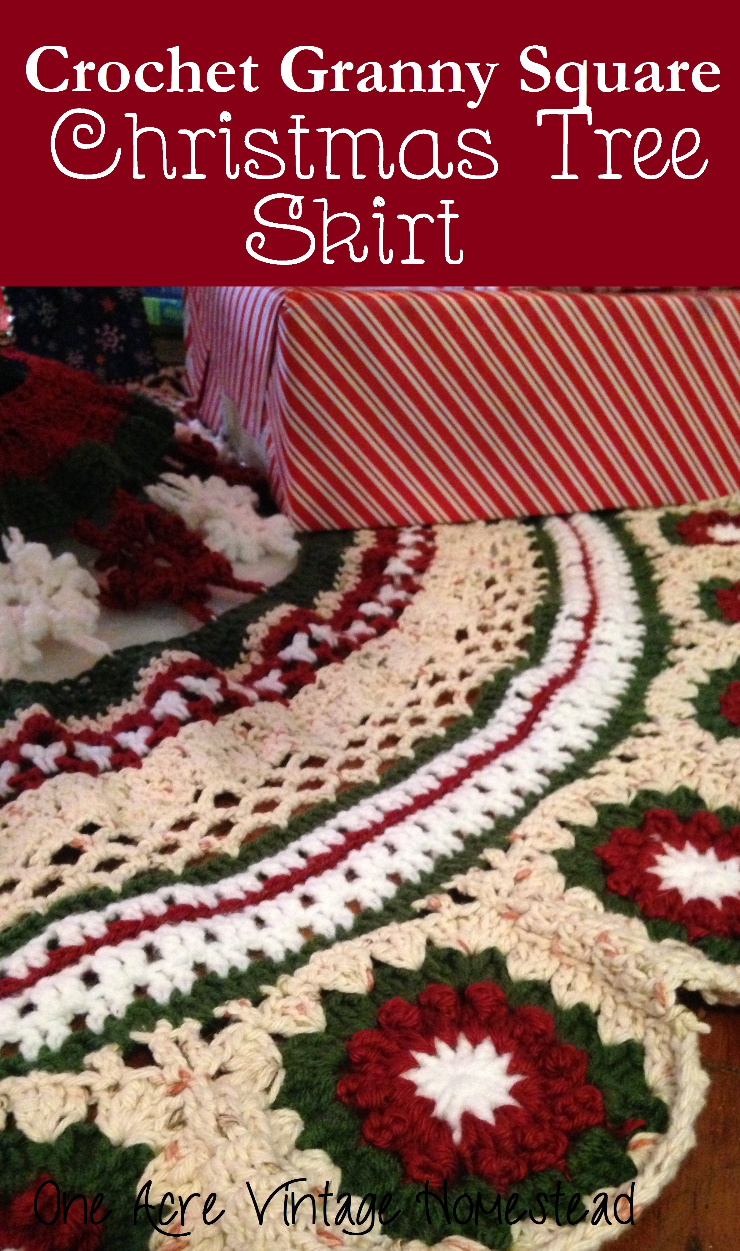 Perfect for Christmas Trees Crochet PATTERN Festive Granny Tree Skirt