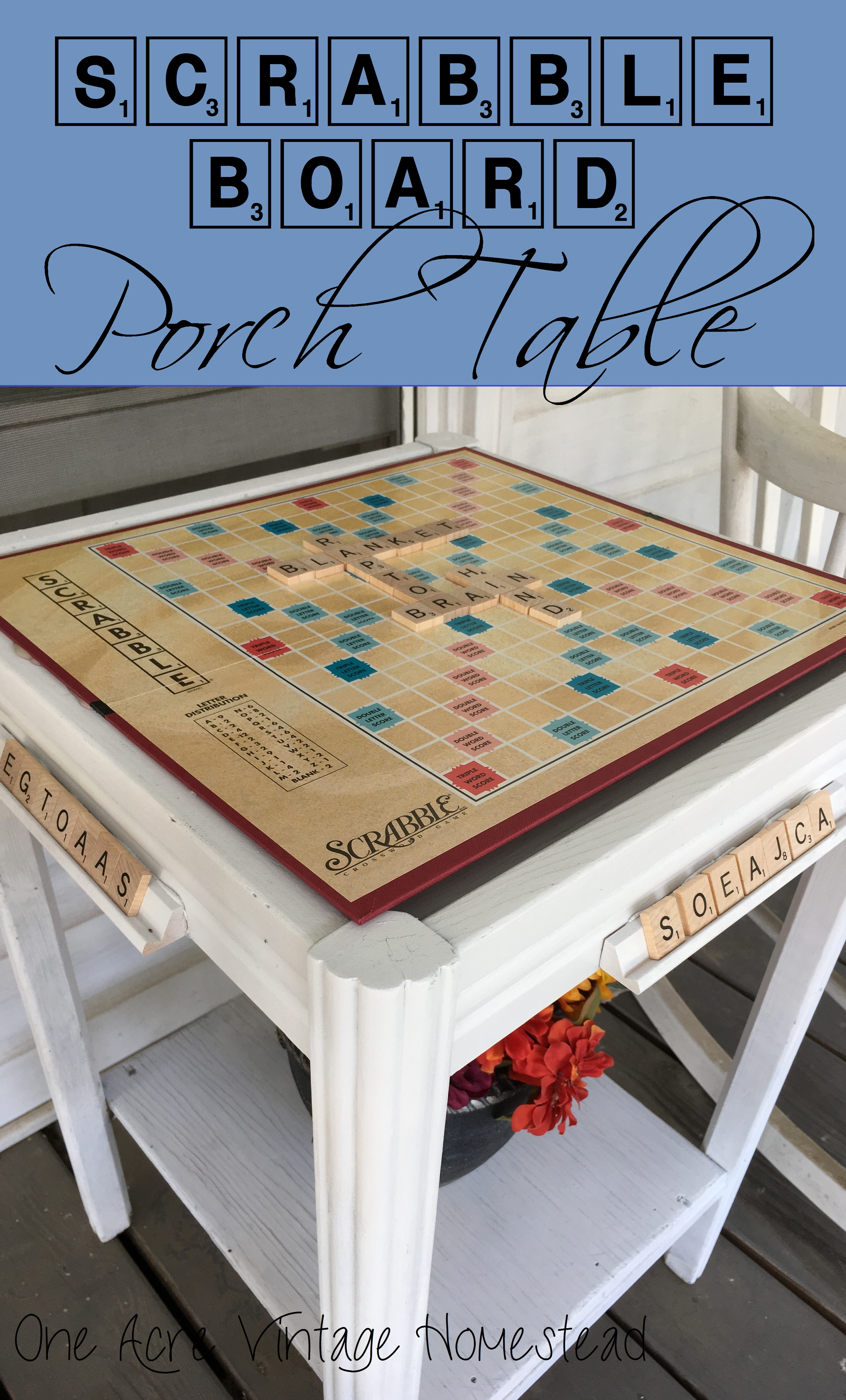 Excellent Scrabble Game Board Table An Upcycle Craft Project Uwap Interior Chair Design Uwaporg