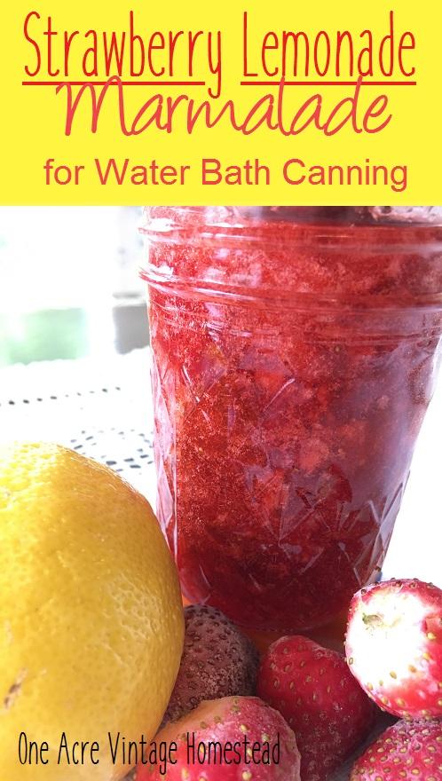 strawberry lemonade marmalade