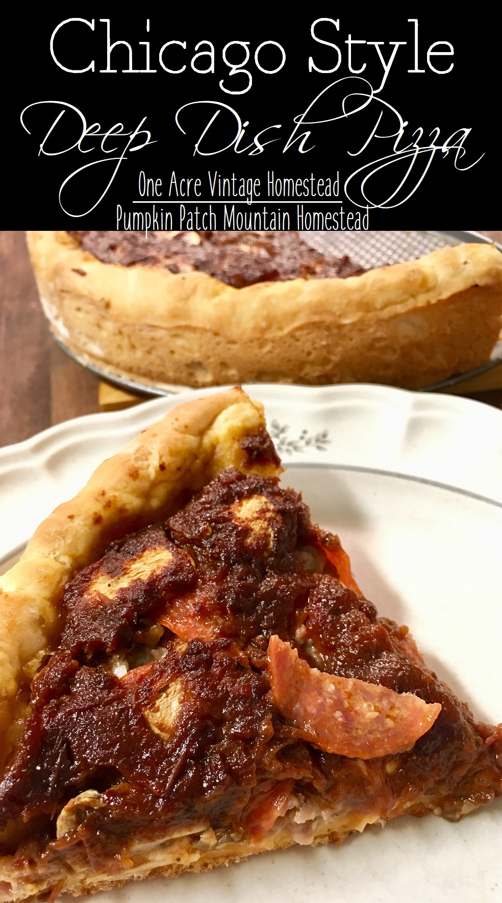 chicago style deep dish pizza one acre vintage pumpkin patch mtn