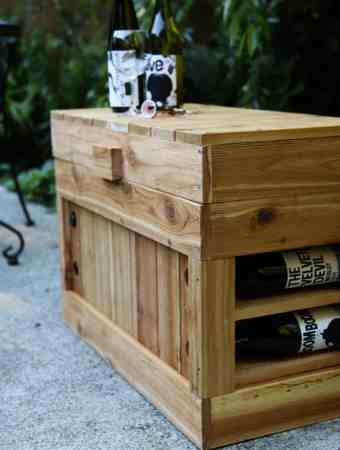 HOW TO BUILD A WINE RACK COOLER SEAT