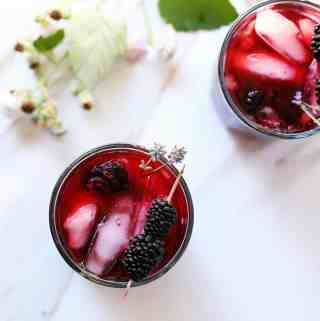 Blackberry Infused Earl Grey Iced Tea