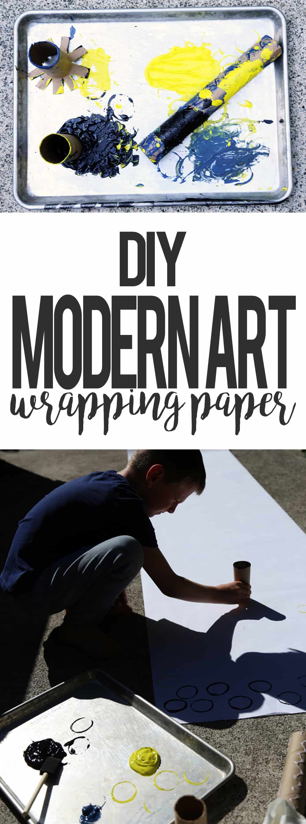 Kid Crafted Modern Art Wrapping Paper #BoxTopsHero #ad