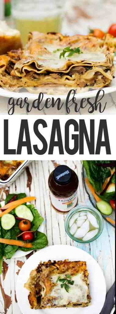 #ad #RefreshinglyHonestSnacks #CollectiveBias Vegetable Sausage Fresh Garden Lasagna