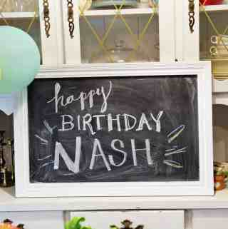 Chalboard Art Happy Birthday Nash