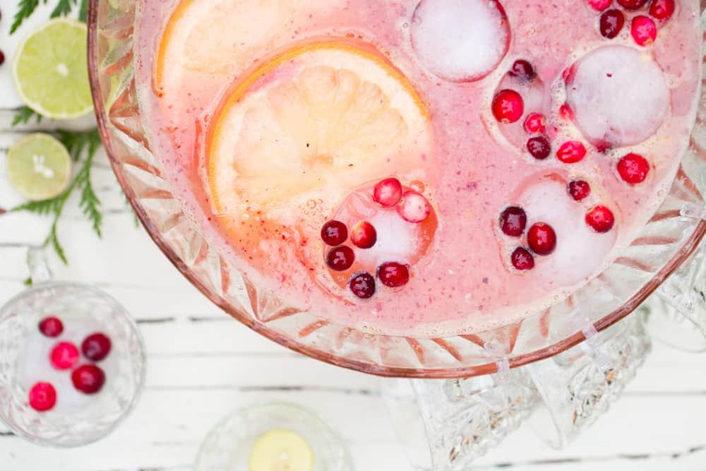 Cranberry Citrus Paloma Punch #ad
