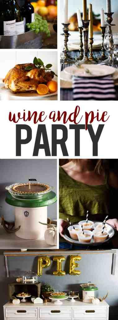 Fall Thanksgiving wine and dessert table pie bar #TurkeyDayTips #CollectiveBias