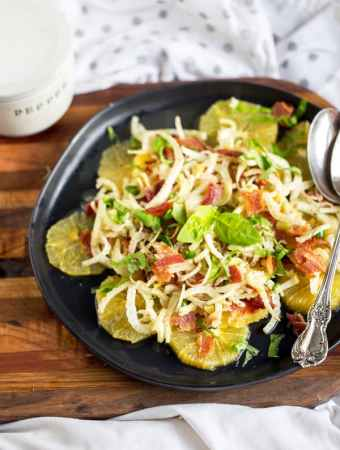 Fennel Orange Salad with Spicy Honey'd Bacon