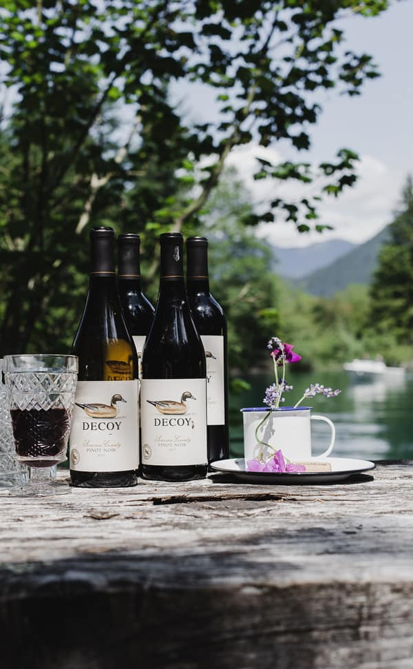 Camping at Baker Lake is the perfect way to savor summer - reconnecting with great friends, delicious food and amazing wine. Baker lake camping | Mount Baker | camping in Washington state | near seattle #ad @DecoyWine #camping #wine
