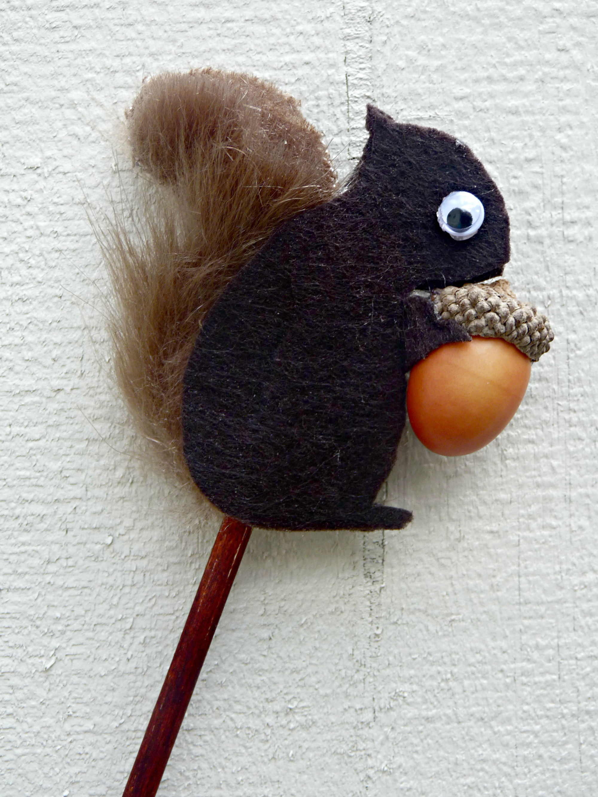 Peek A Boo Squirrel Puppet One Artsy Mama