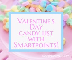 Smartpoints List for Valentine's Day Candy
