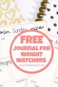 Free Weight Watchers Tracker