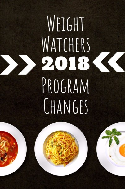 Weight Watchers 2018 Program Changes