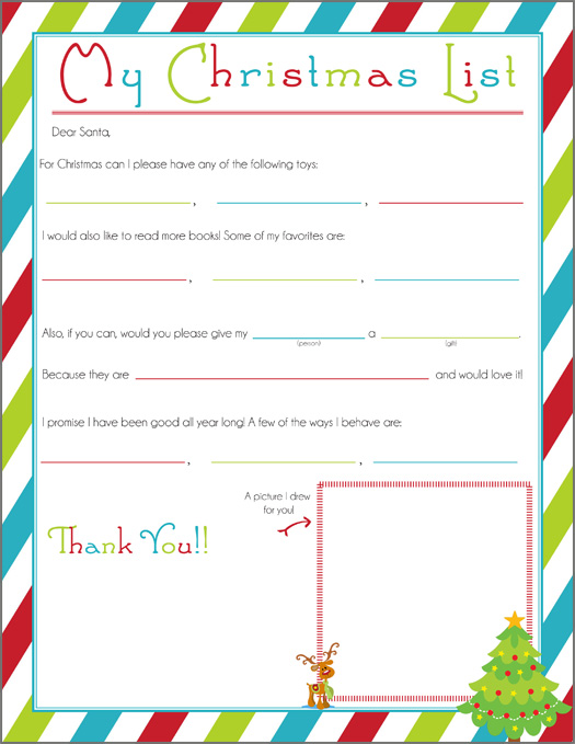 writing a letter to santa free printable one beautiful home santa – Santa List Template