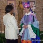 Presiding Bishop Katharine Jefferts-Schori Greets Earlene Ford