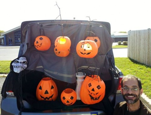 Father Manny, somewhere in amongst the pumpkins