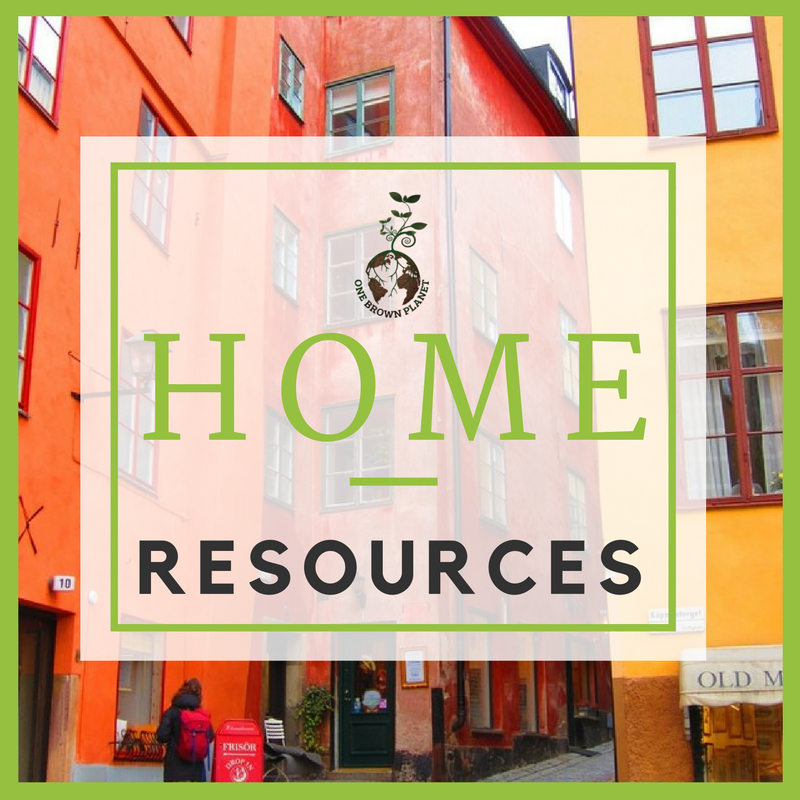 home resource, one brown planet, sustainable living
