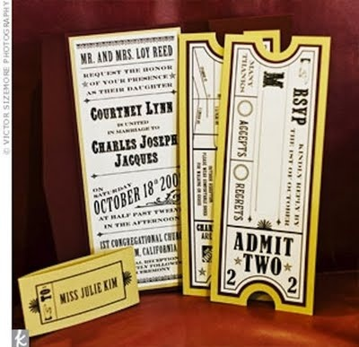 Movie Ticket Wedding Invitation