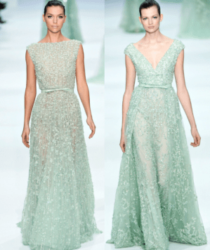 Elie Saab Couture Mint Gown