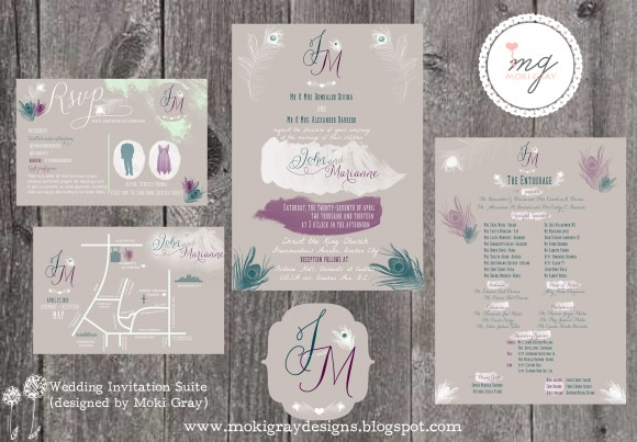Wedding Invitations by Moki Gray Designs