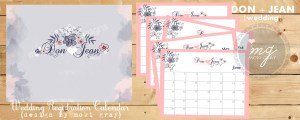 Wedding Registration Calendar