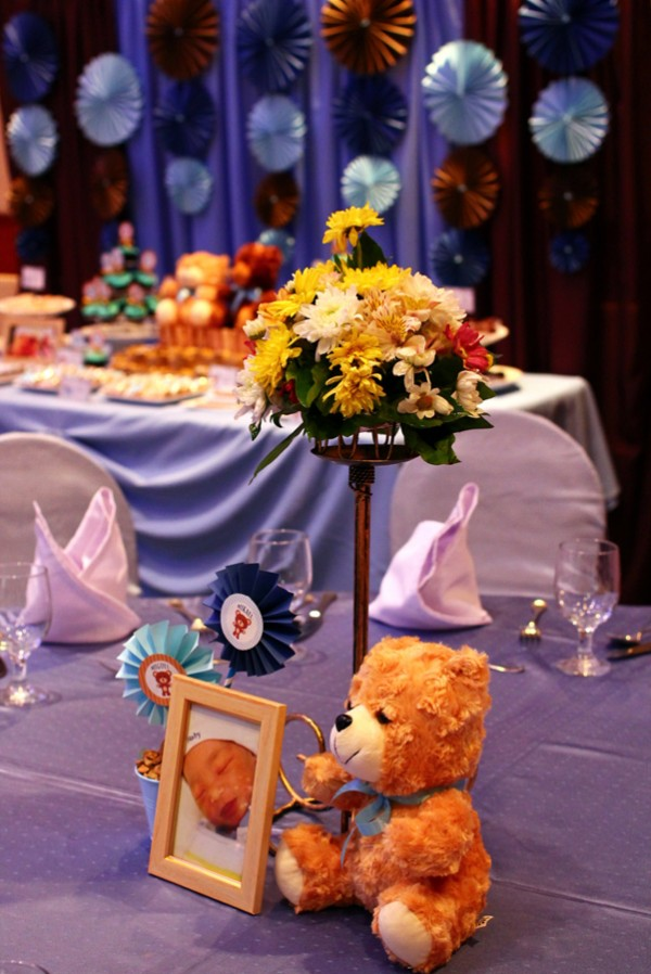 Blue and Brown Teddy Bear Themed Party - 06