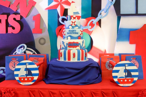 Nautical Themed Birthday Party - 23