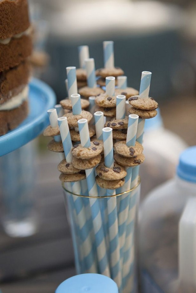 Mini Cookies on Straws