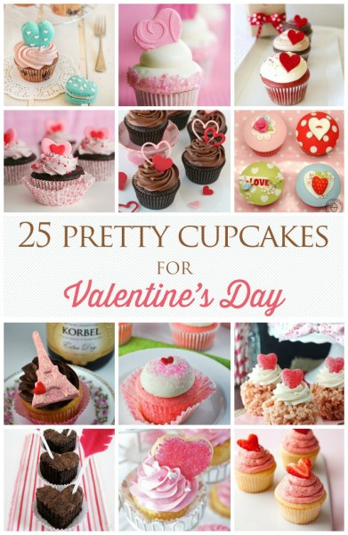 Pretty Valentines Day Cupcakes