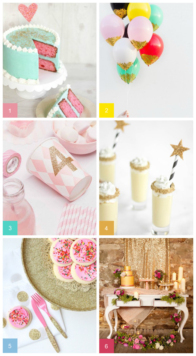 glittery gold party ideas