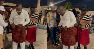 Osebo Styles Jim Iyke in his branded Skirt Dressing 1