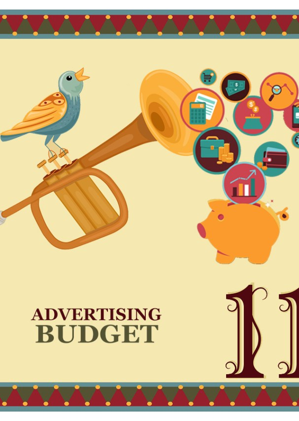 "On the eleventh day of Christmas, my web strategist said to me - ""Budget at least a dollar a day on online advertising to bring new ""fans"" into your online sales funnel."""