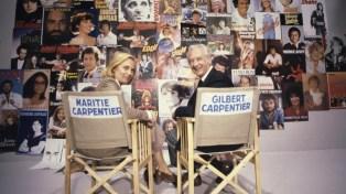 En France, à Paris, Maritie et Gilbert CARPENTIER sur le plateau de l'émissi