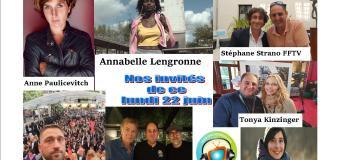 Voici nos podcasts de nos émissions de ce lundi 22 juin avec Annabelle Lengronne, Tonya Kinzinger, Lucie Cariès et Stéphane Strano