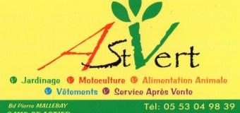 Notre partenaire: la jardinerie AST VERT à Saint Astier