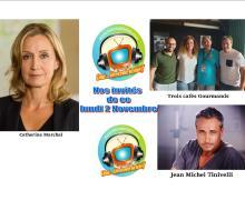 Trois Cafés Gourmands, Catherine Marchal et Jean Michel Tinivelli lundi 2 novembre dans Chut on écoute la télé