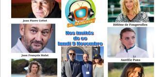 Voici nos podcasts de nos émissions Chut on écoute la télé de ce lundi 9 novembre avec Aurélie Pons, Hélène de Fougerolles, Anne Caillon